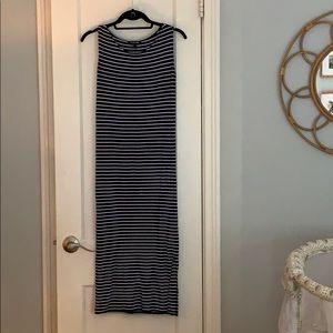 Isabella Oliver striped midi maternity dress